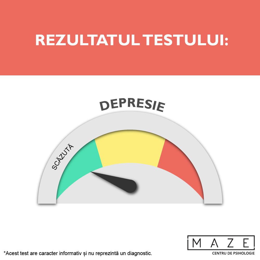 Test depresie - scazuta - maze center