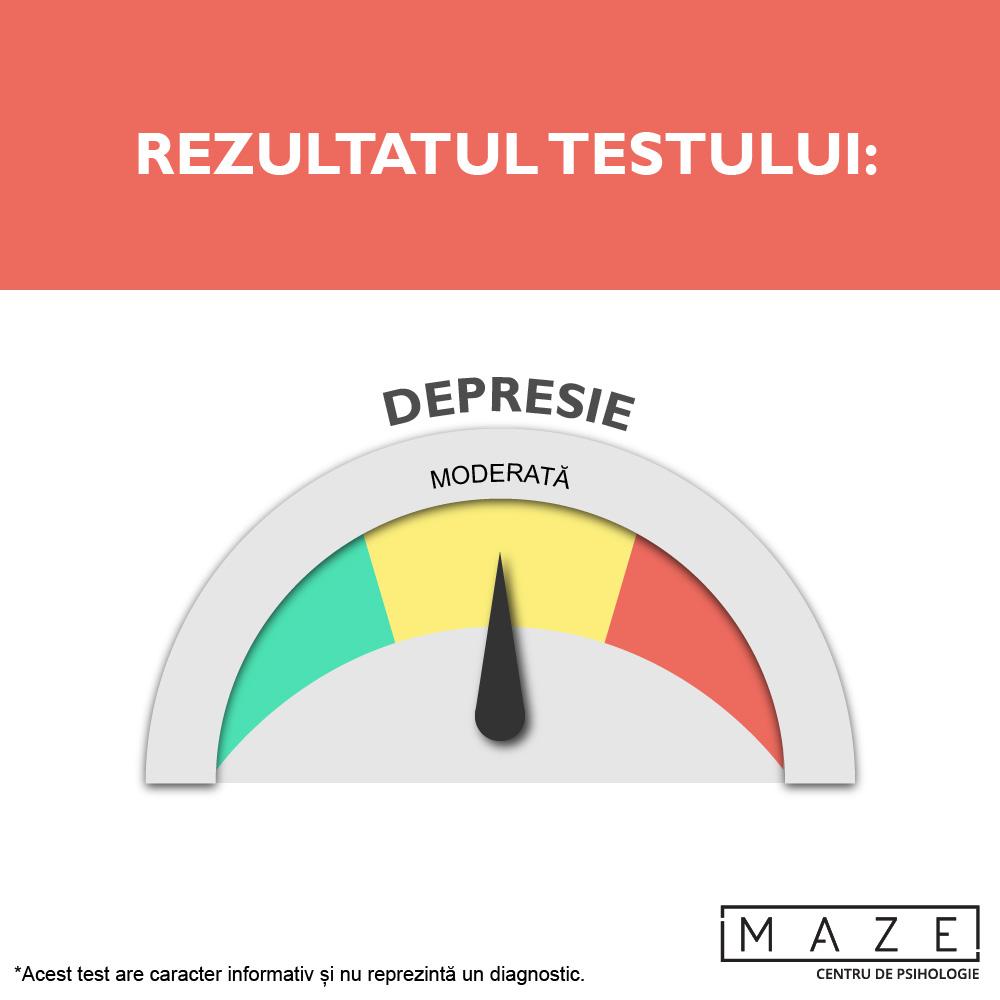 Test depresie - moderata - maze center