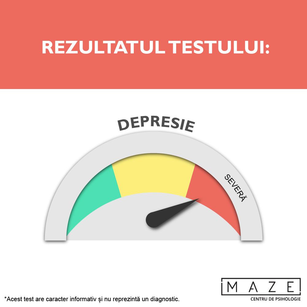 Test depresie - severa - maze center