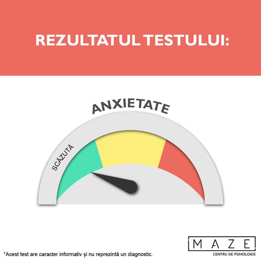Test anxietate - scazuta - maze center