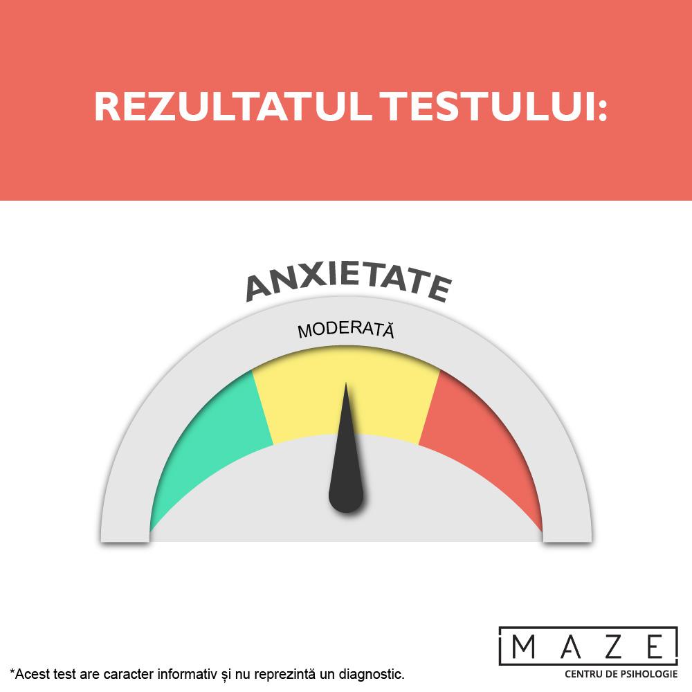 Test anxietate - moderata - maze center