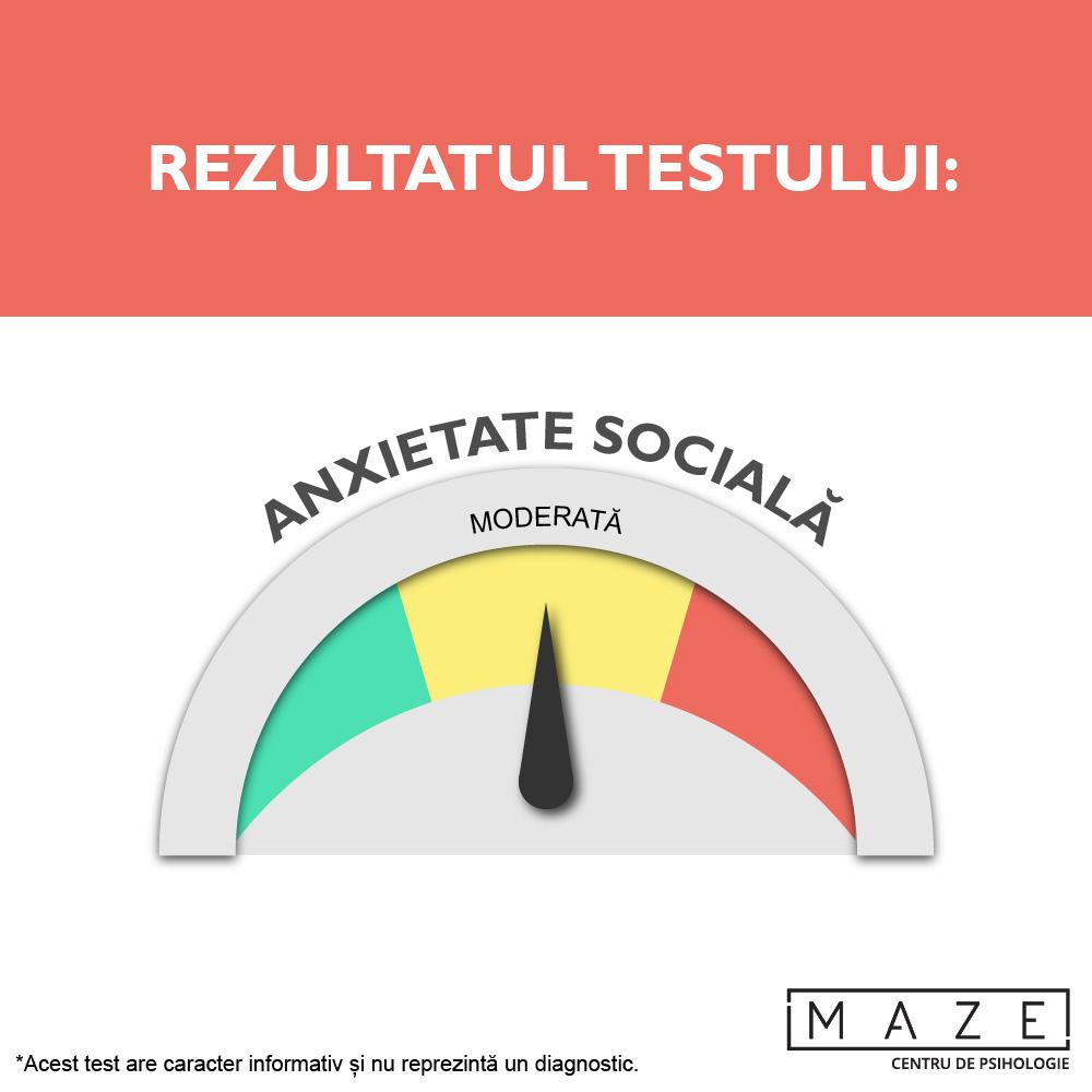 Teste anxietate sociala - moderata - maze center
